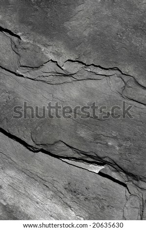 Aspect and texture of a schist slab. - stock photo