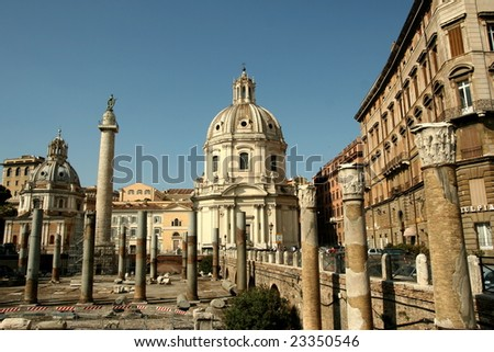 Aspects of Rome, Italy - stock photo