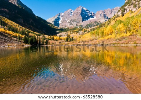 Aspen And Maroon Bells - stock photo