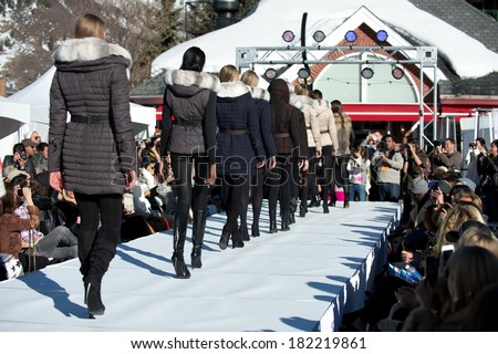 ASPEN, CO -MARCH 14: Aspen Intl Fashion Week presents GORSKI at the Apres Ski Stage in Aspen, Colorado on March 14, 2014