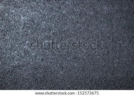 Asphalt dark fresh surface - stock photo