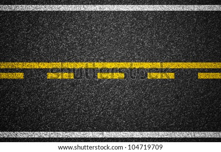 Asphalt highway with road markings background - stock photo
