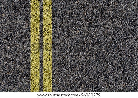 Asphalt Road Black Background - stock photo
