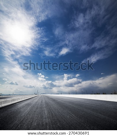 asphalt road in China Beijing Fangshan district the secend highway to Shijiahuang City - stock photo