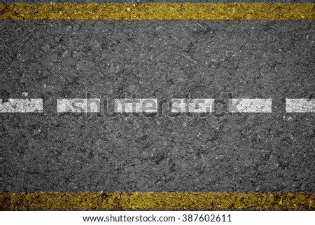 Asphalt Road texture with Yellow Strip
