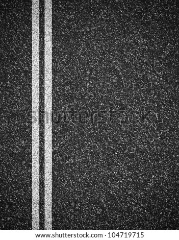 Asphalt road top view background - stock photo