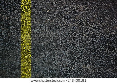 Asphalt surface with traffic line - stock photo