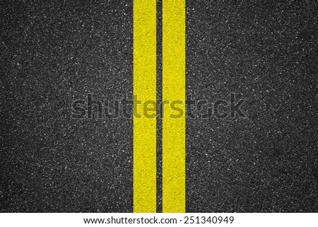 Asphalt texture background with lines  - stock photo