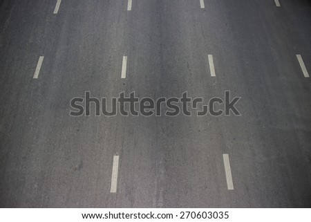 asphalt texture with white line - stock photo