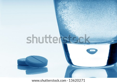 aspirin close-up - stock photo