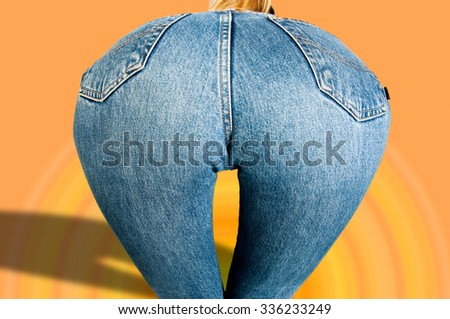 Ass of young woman. Sexy woman soft booty, panties. sexy curves girl butt, without cellulite.