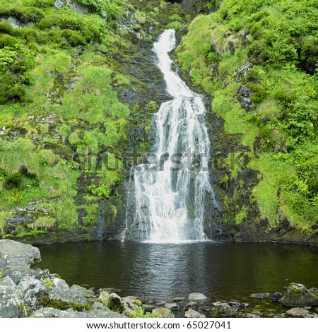 Assarancagh Waterfall, County Donegal, Ireland - stock photo