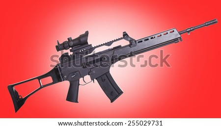 assault rifle - stock photo