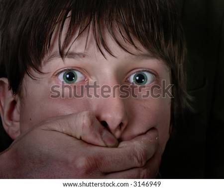 assaulted young person - stock photo