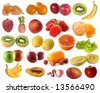 Assembling of delicious fruit - stock photo