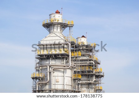 Assembly module work for industrial plant. - stock photo