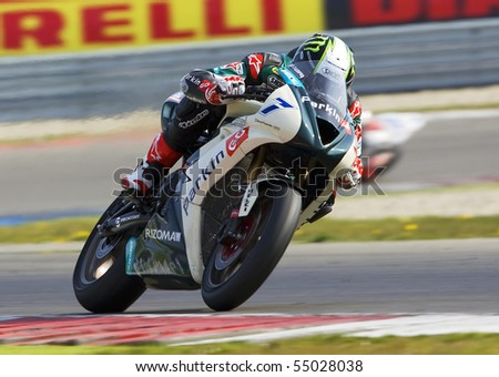ASSEN - APRIL 24: Chaz Davies participates in the Superbikes 2010 Event April 24, 2010 in Assen, Netherlands.