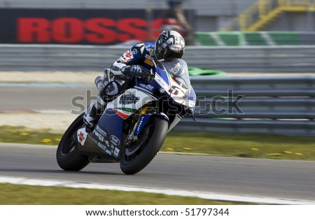 ASSEN - APRIL 24: Lorenzo Lanzi participates in the Superbikes 2010 Event April 24, 2010 in Assen, Netherlands.