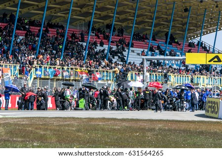 ASSEN NETHERLANDS - APRIL 29.+30, 2017: World Superbike Race WSBK - Starting position