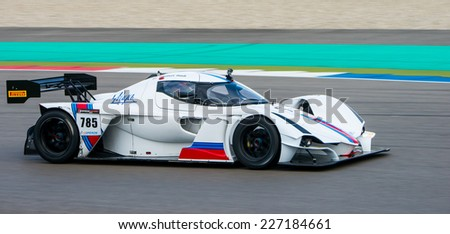 ASSEN, NETHERLANDS - OCTOBER 17, 2014: Qualification run of SuperGT, GT and GT2 Supercar challenge class - stock photo