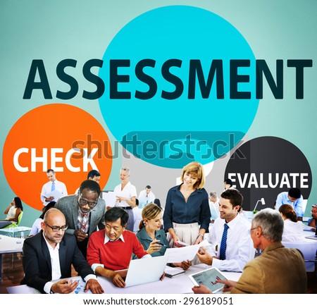 Assessment Calculation Estimate Evaluate Measurement Concept - stock photo