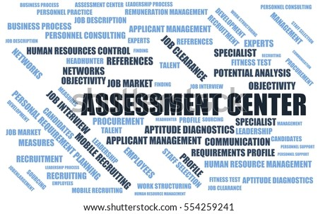 Assessment Center Word Cloud Wordcloud Terms Stock Illustration ...