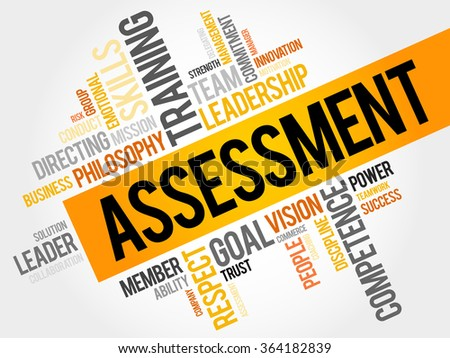 ASSESSMENT word cloud, business concept - stock photo