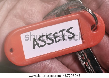 ASSETS word written on key chain