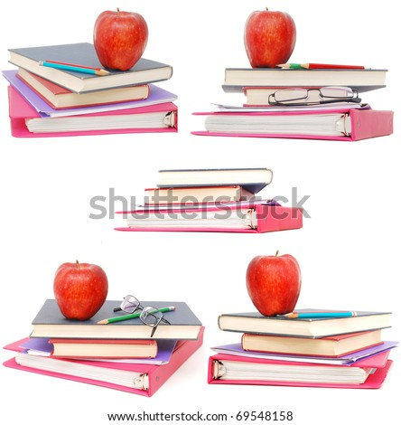 Assigning homework icons - stock photo