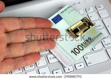 Assignment for updating or purchase of the new computer - stock photo