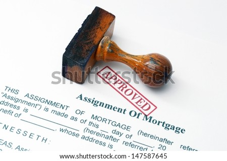 Assignment of mortgage - stock photo