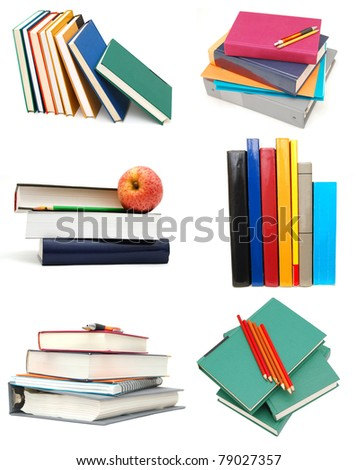 Assignments on 'Back to school' ideal - stock photo