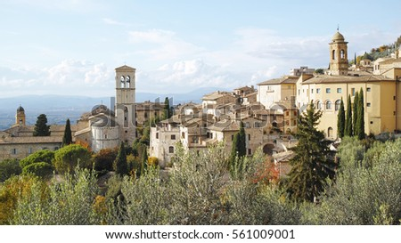 Assisi panoramic view, Umbria, Italy.