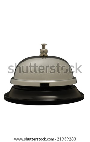 assistance bell for desk isolated on white