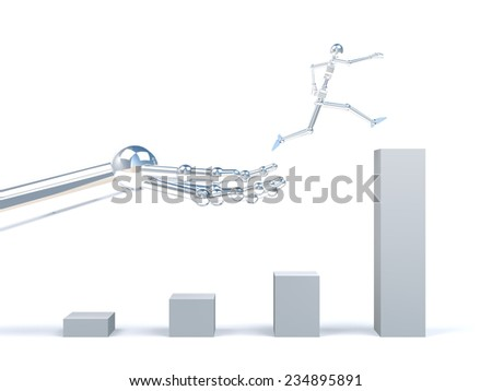 Assistance to business success - stock photo