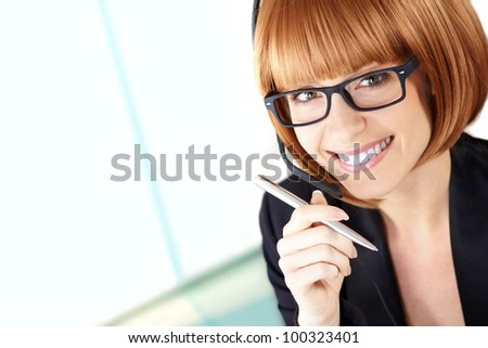 assistant - stock photo