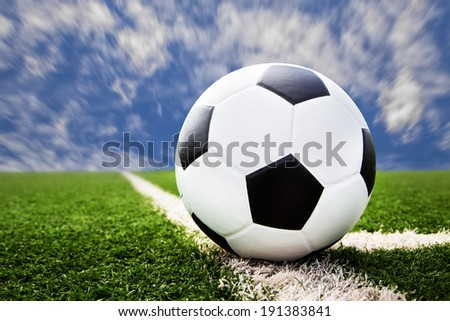 Association football, commonly known as football or soccer, is a sport played between two teams of typically eleven players, the game was played by over 250 million players in over 200 countries - stock photo