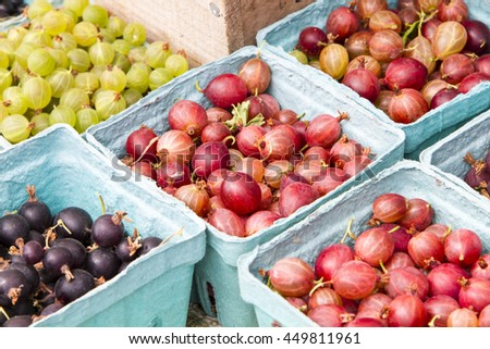 Assorted berries for sale - stock photo