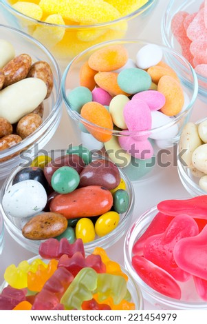 assorted candies - stock photo