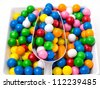 Assorted Candies in a candy buffet - stock photo