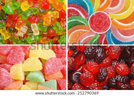 assorted chewy candy - stock photo