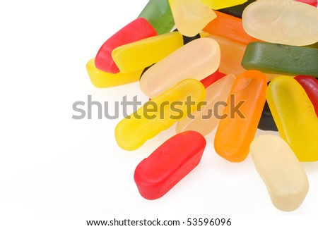Assorted chewy fruit sweets - stock photo