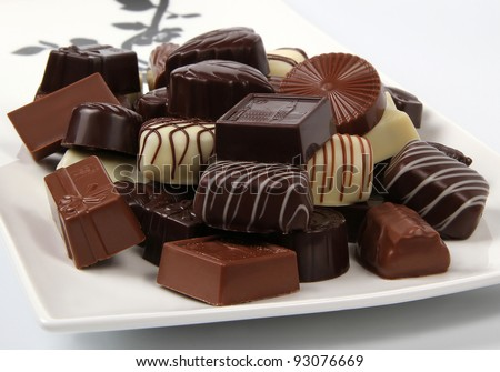 Assorted chocolate candies - stock photo