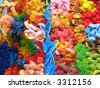 Assorted colorful candies background - stock photo