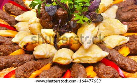 assorted dish - stock photo