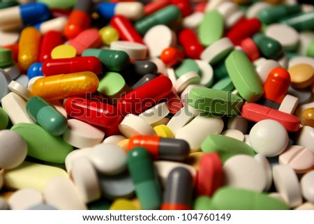 Assorted drugs - stock photo