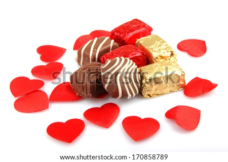 Assorted Fine Chocolates - stock photo