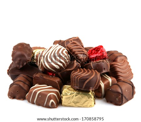 Assorted Fine Chocolates - stock photo