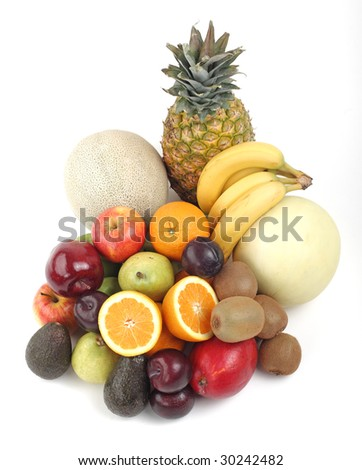 Assorted fruits - stock photo