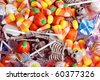 assorted Halloween candy and toys - stock photo